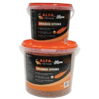 Alfa Orange Pond Sticks 2.5L 5.5L 10L 5KG Koi Goldfish Value Fish Food